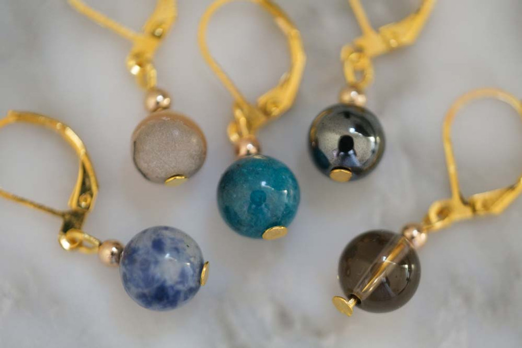 Clarity and Focus Gemstone Stitch Markers Set of 5