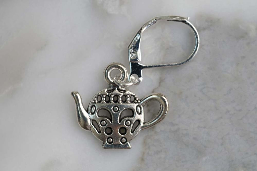 Tea Time Stitch Markers Set of 5