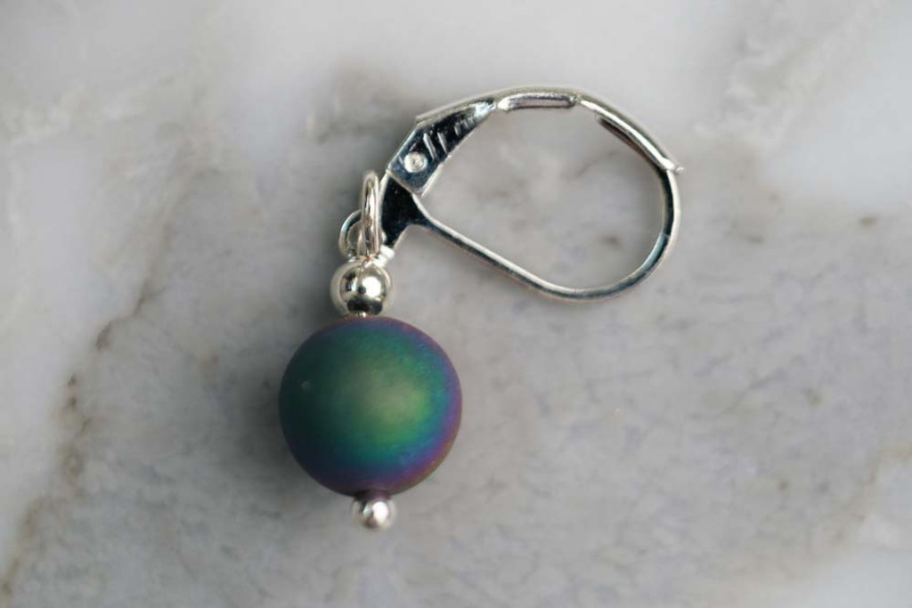 Druzy Agate 8mm Stitch Markers Set of 5