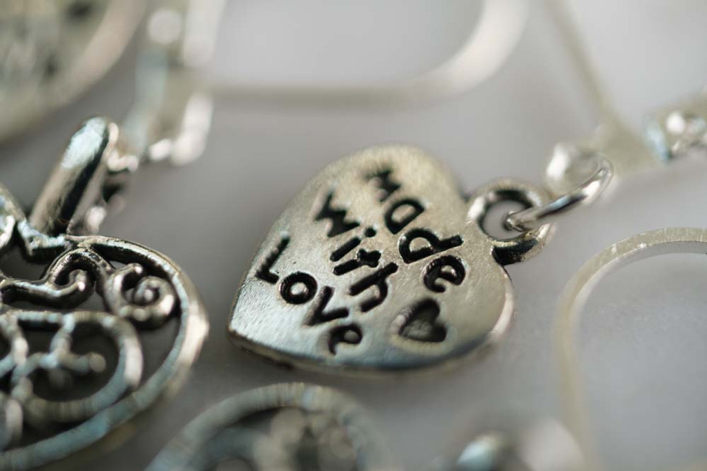 Made With Love Stitch Markers Set of 5