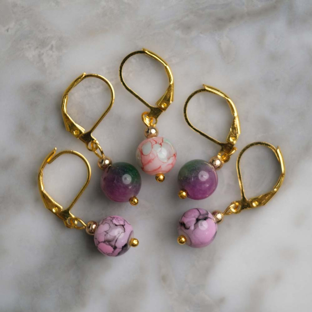 Pretty in Pink Stitch Markers Set of 5