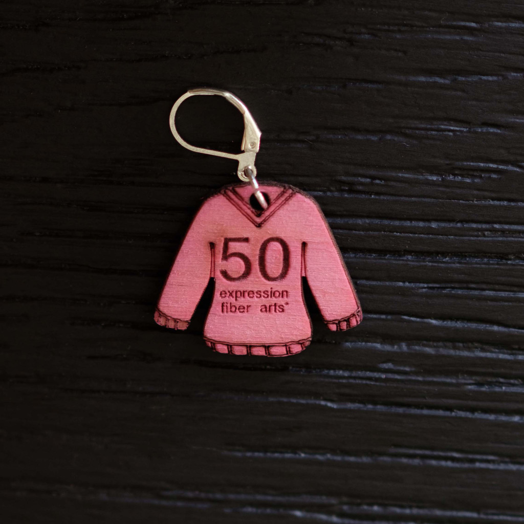Hot Pink Sweater Stitch Markers Set of 6