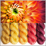 FLAME DAHLIA HUES 'PEARLESCENT' FINGERING KIT