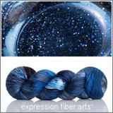 Pre-Order Blue Goldstone 'PEARLESCENT' FINGERING (Skein only)