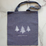 Large Blue Heathered Project Bag