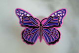 Pink and Purple Butterfly Pin