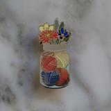 Mason Jar of Yarn Enamel Pin