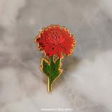 Crimson Mum Enamel Pin