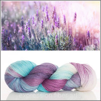 LAVENDER AND LIGHT YAK SILK LACE