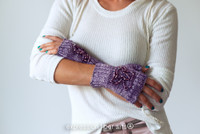 Beaded Fingerless Mitts