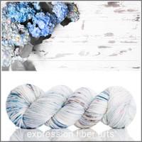 BLUE HYDRANGEAS 'DEWY' DK