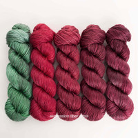 STRAWBERRY HUES 'LUSTER' WORSTED KIT