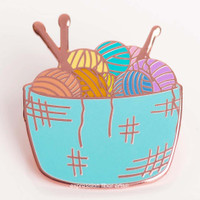 Basket of Yarn Enamel Pin