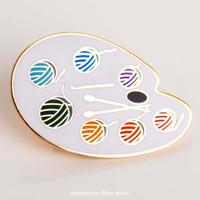Yarn Paint Palette Enamel Pin