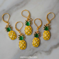 Pineapple Stitch Markers Set of 5