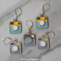 Vintage Camera Stitch Markers Set of 5