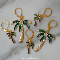Palm Trees Stitch Markers Set of 5