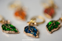 Gold Leaf Stitch Marker Set of 5