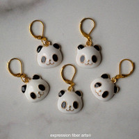Panda Stitch Markers Set of 5