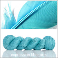 FEATHER BLUE ALPACA SILK LACE
