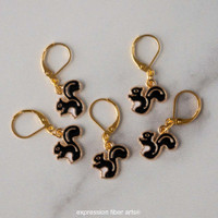 Squirrel Stitch Markers Set of 5