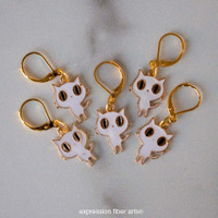 Ghost Kitty Stitch Markers Set of 5