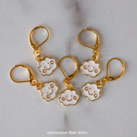 Giddy Clouds Stitch Markers Set of 5
