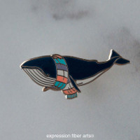 Alfred the Whale Enamel Pin