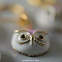 Lavender Owls Stitch Markers Set of 5