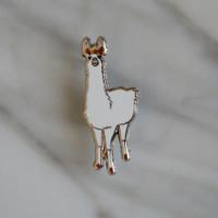 Lucille the Llama Enamel Pin
