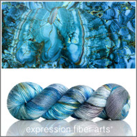 Blue Malachite 'PEARLESCENT' FINGERING