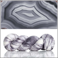 Gray Striped Agate 'PEARLESCENT' FINGERING