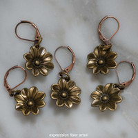 Antique Bloom Stitch Markers Set of 5