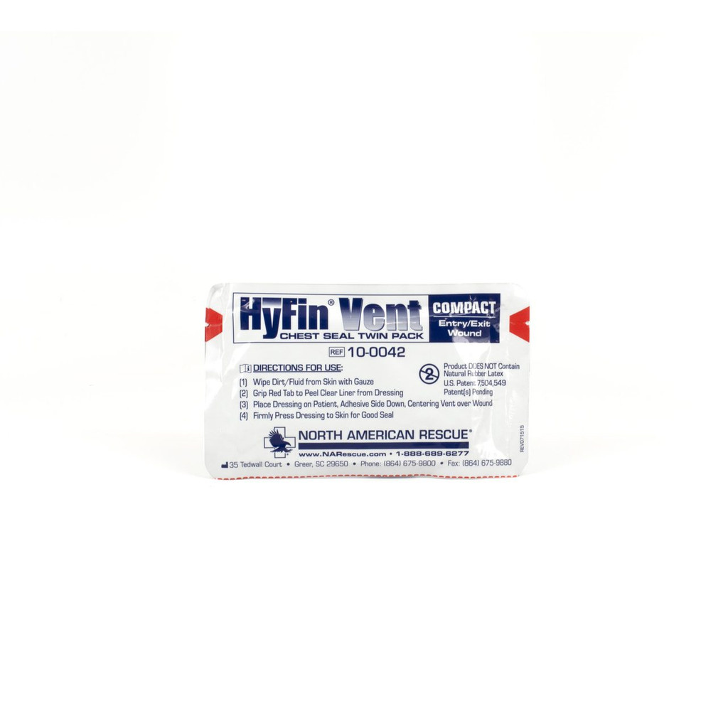 HyFin Vent Compact Chest Seal - Twin Pack