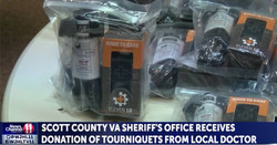 Dentist donates tourniquets to local sheriff's office