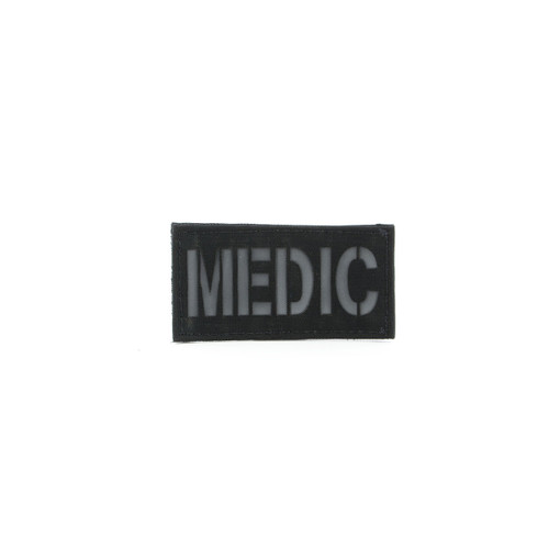 Cell Tag Small MEDIC Patch - Black/Grey