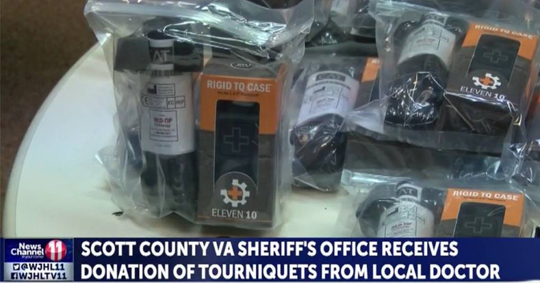 Dentist donates tourniquets to local sheriff's office