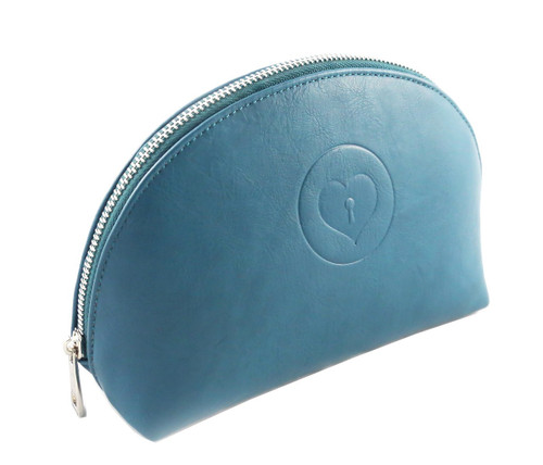Sweetheart Cosmetic Bag in Teal