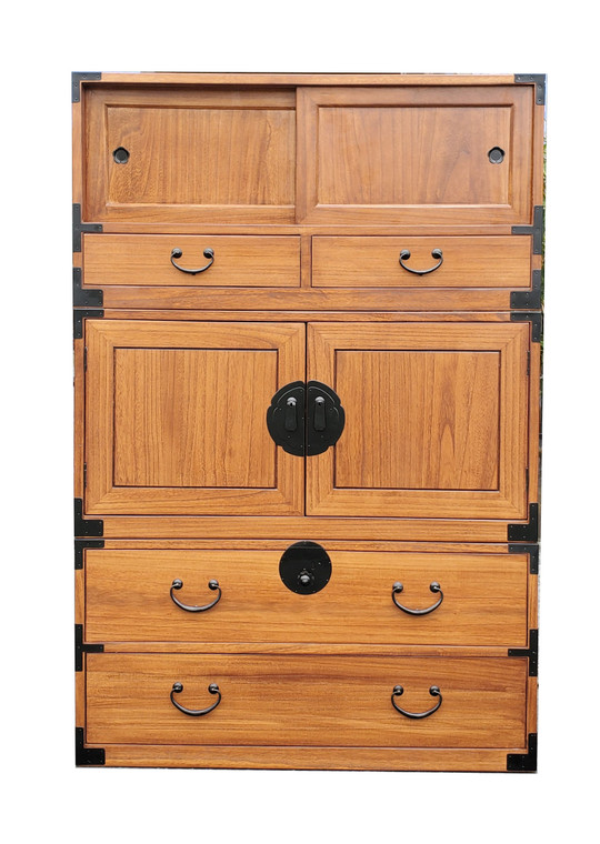 Japanese style 3 sections clothing chest. (KB21)