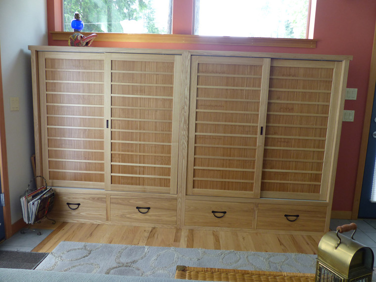 Japanese tansu style book chest 170203