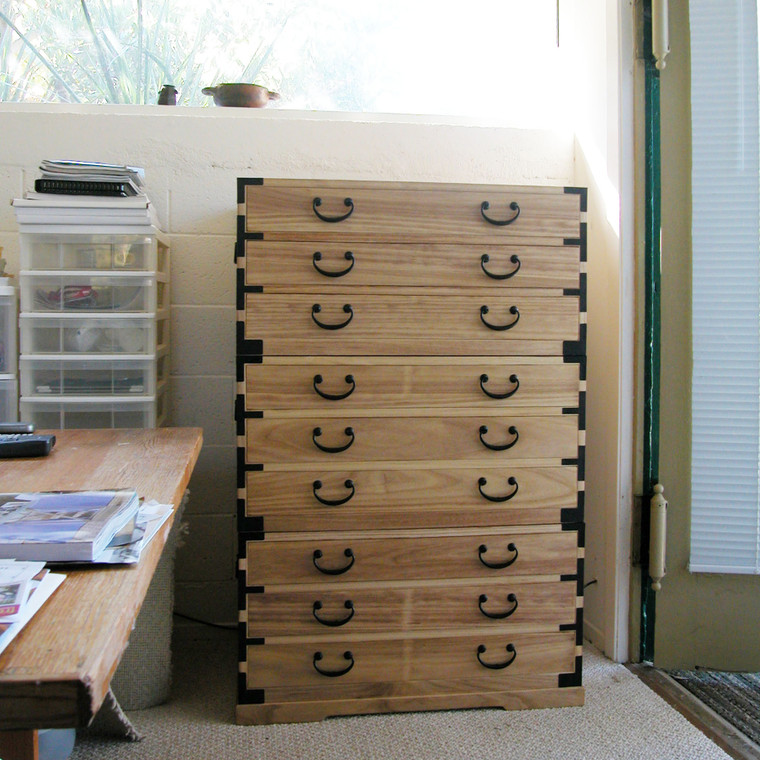 Japanese tansu style file chest