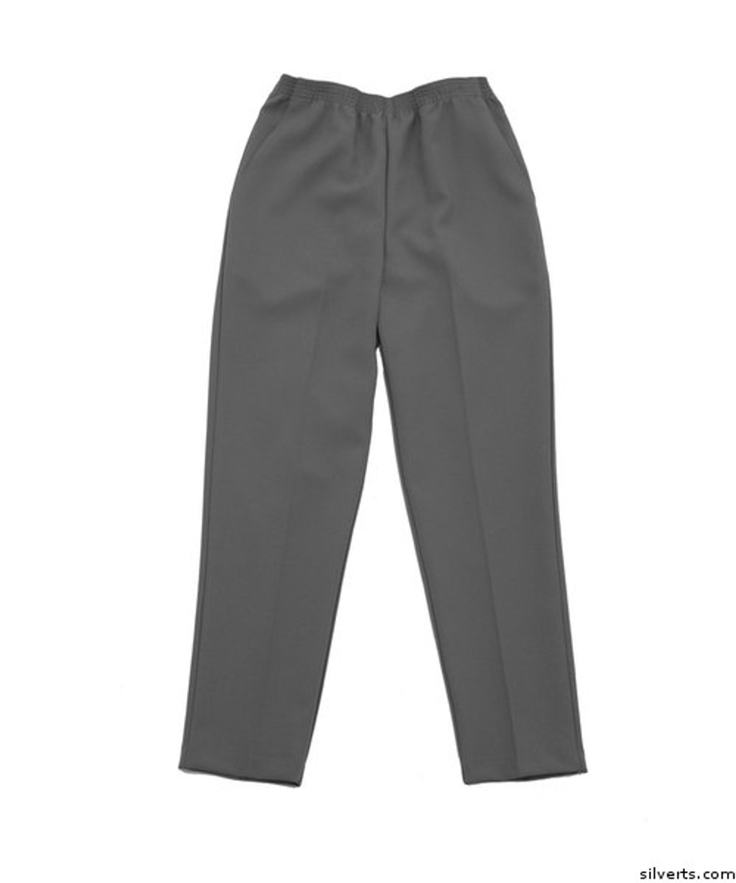 cheap for sale huge range of new york Silvert's 130900105 Women's Elastic Waist Polyester Pants 2 Pockets, Size  16, FOGGY GREY