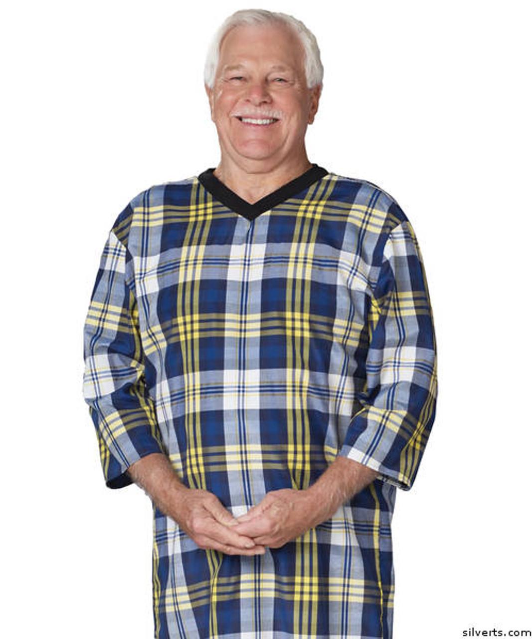 e809477c47 Silvert s 500500505 Mens Adaptive Cotton Hospital Patient Nightgowns