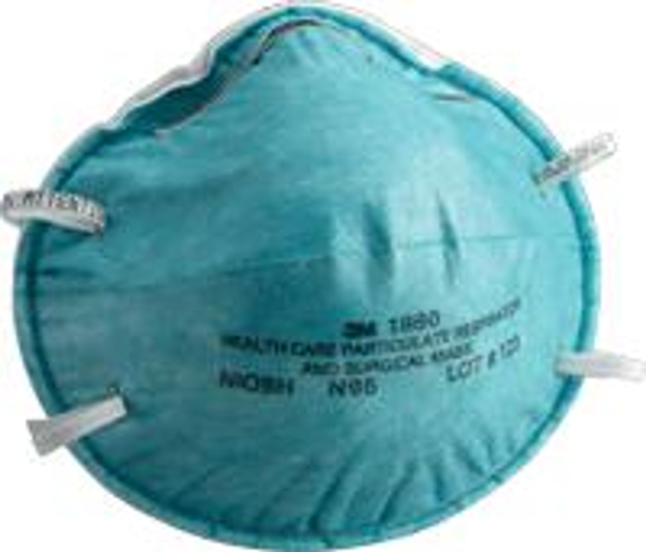 Mask Molded Care Surgical Health Regular Cone Teal And Bx Respirator 3m N95 1860 Bx 20 Particulate