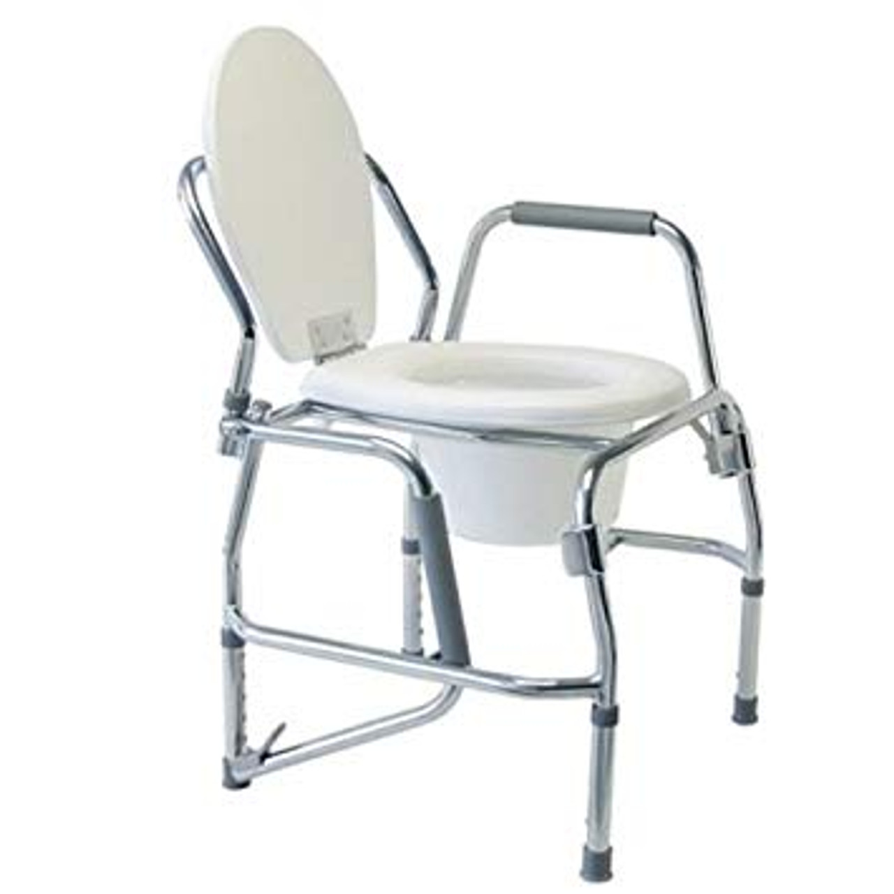 Lumex 6437a Commode Drop Arm W Pail 300lb Padded Seat Platinum Collection