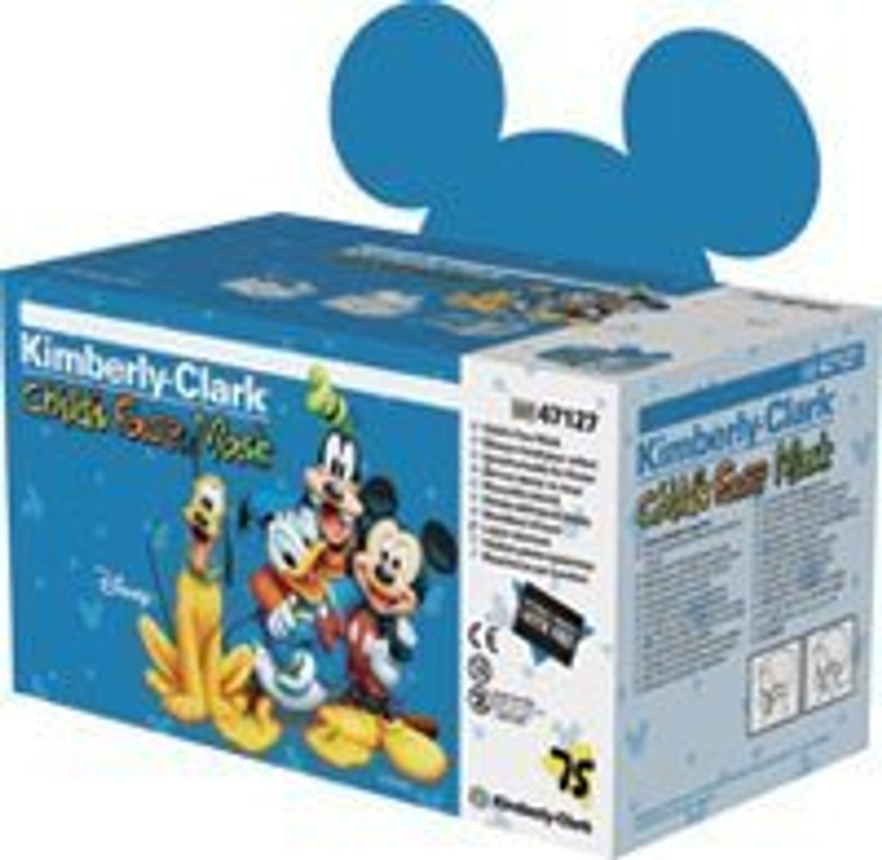75 Disney Child Mask Kimberly-clark 47127 bx Earloop