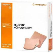 "Smith & Nephew 66007637 Allevyn Non-Adhesive Polyurethane foam dressing 4""x4"" 10/box"