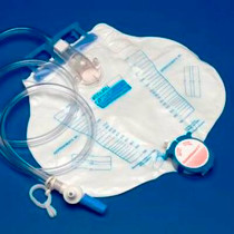 KENDALL CURITY ANTI REFLUX CHAMBER DRAINAGE BAG W/ NEEDLELESS SAMPLE PORT, 2000ML (CS20) (MDT-8206)