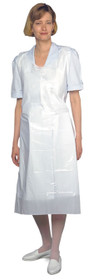 "White Plastic Apron X-Long 49""x125"" (018-400)"