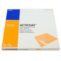Smith & Nephew 20401 ACTICOAT SILVER COATED ANTIMICROBIAL Barrier Dressing, SIZE 40CM X 40CM BX/6